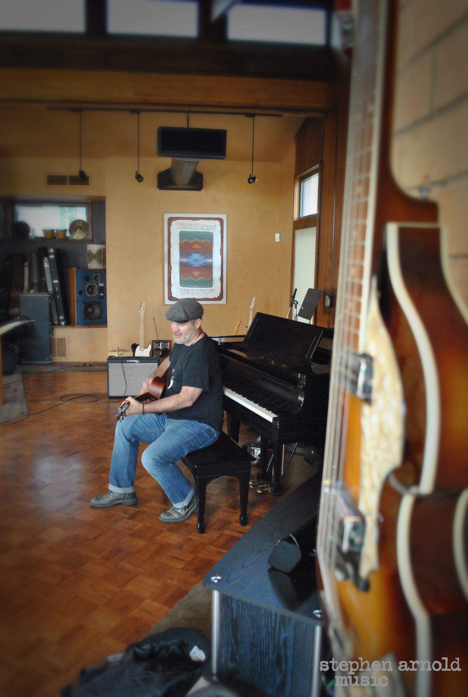 The oh so talented Greg Barnhill at the studio.