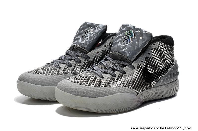 100% authentic a9333 c4804 sapatilhas marca All Star GREY BLACK Nike Kyrie 1 novo tenis da