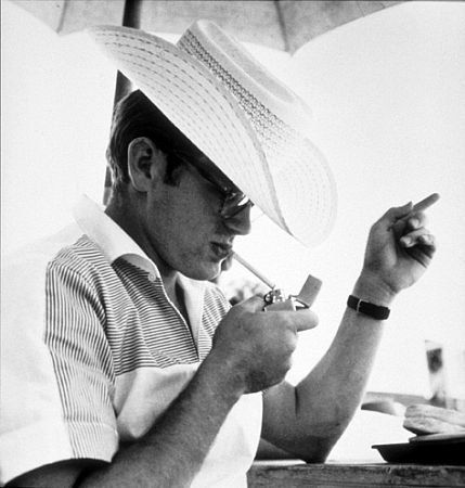 """James Dean on location for """"Giant"""" in Marfa, TX, 1955"""