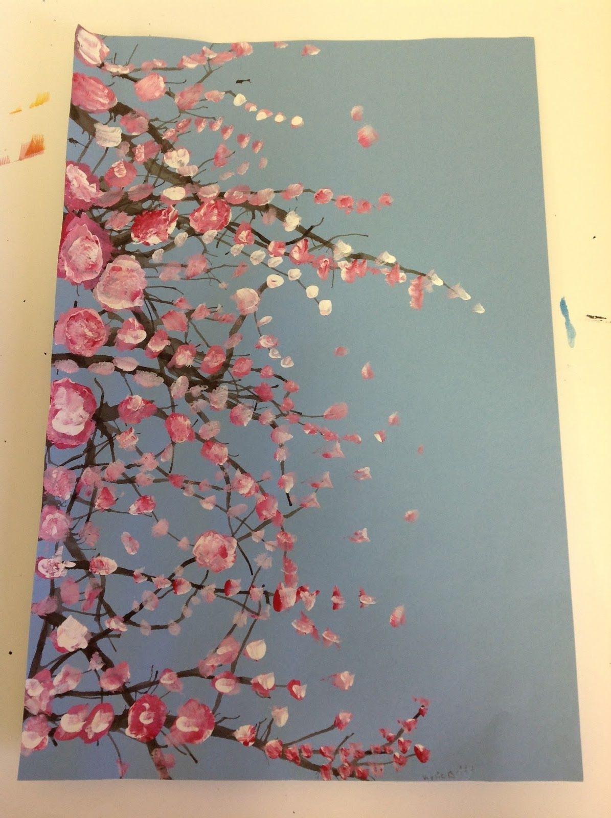 Color It Like You Mean It Cherry Blossom Trees Spring Art Projects Homeschool Art Blossoms Art