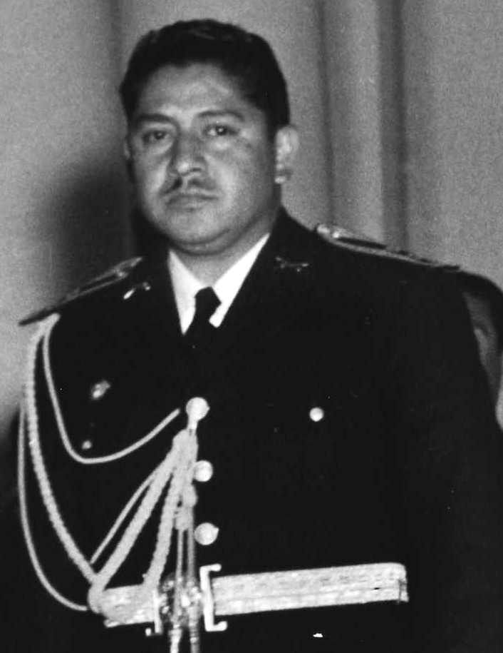 """Carlos Enrique Díaz de León (1910-1971) 25th President of Guatemala. Chief of the armed forces, took over when Arbenz resigned. Diaz spoke to the nation on the radio - """"The struggle against the mercenary invaders of Guatemala will not abate. Colonel Arbenz had done what he thought was his duty. I shall carry on."""" In consequence of stating his presidential commitment to resisting foreign invasion, he was forcibly removed from office under threat of machine gun after only 24 hours."""