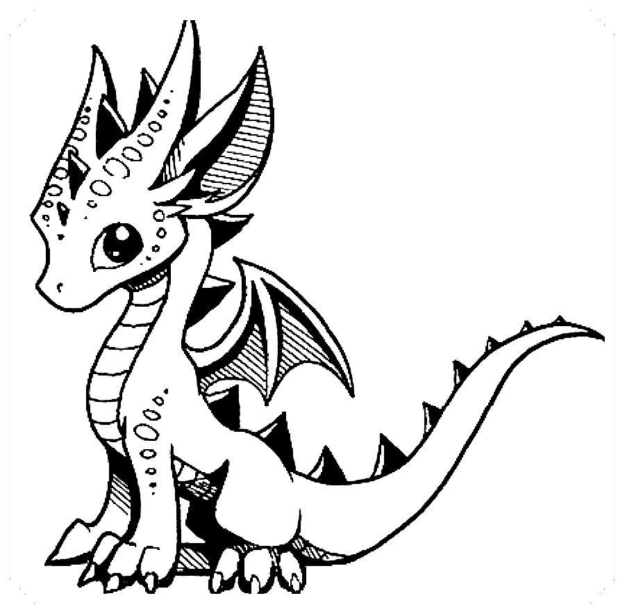 Pin En Imagenes De Dragones Para Colorear