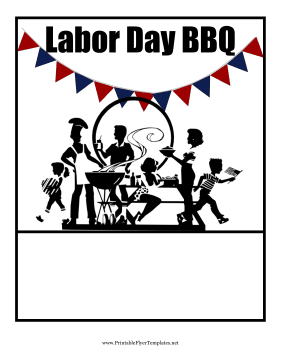 Great for holiday celebrations, this Labor Day flyer has