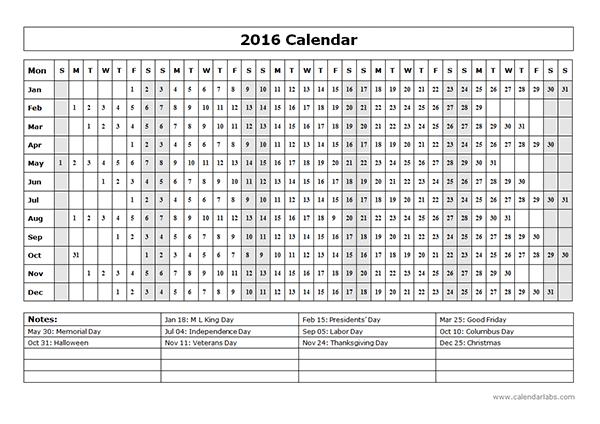 Print Calendar Yearly Idealstalist