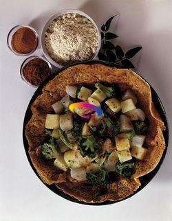 Verdure con crepes di farina di ceci | Cucinare Meglio