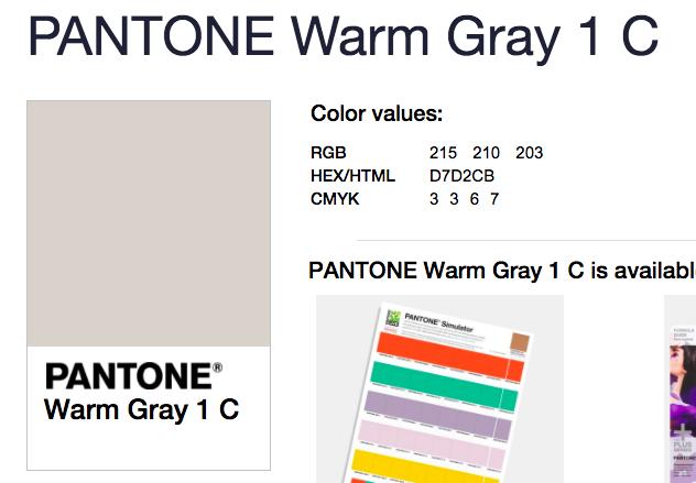pantone warm gray 1 c grey ebay color guide 1795