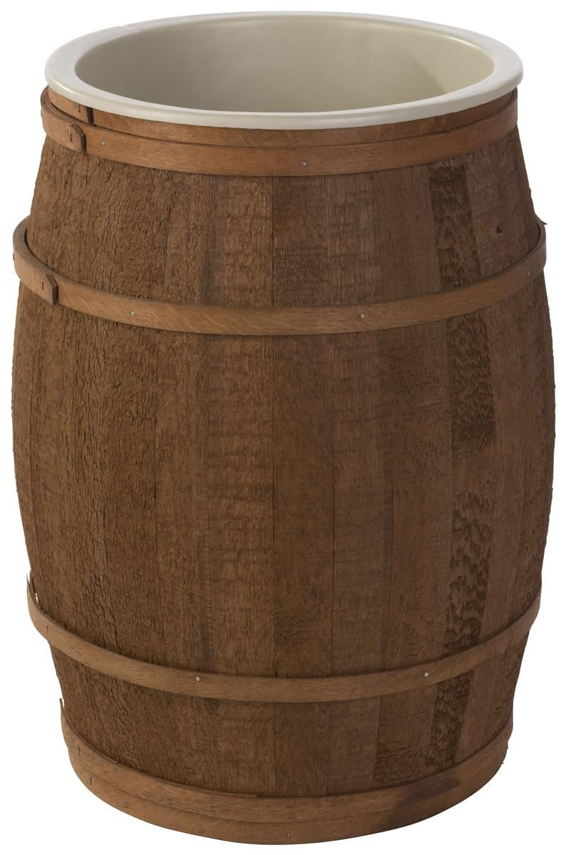 17 Inch Wooden Barrel Dump Bin For Floor Full Size Food Safe Liner Light Brown Perfect For The Pantry Grain S Food Grade Barrels Wooden Food Wooden Barrel