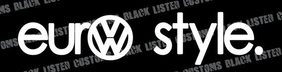"Volkswagen VW Sticker Bomb 5/"" Euro Custom Vinyl Decal Sticker JDM"