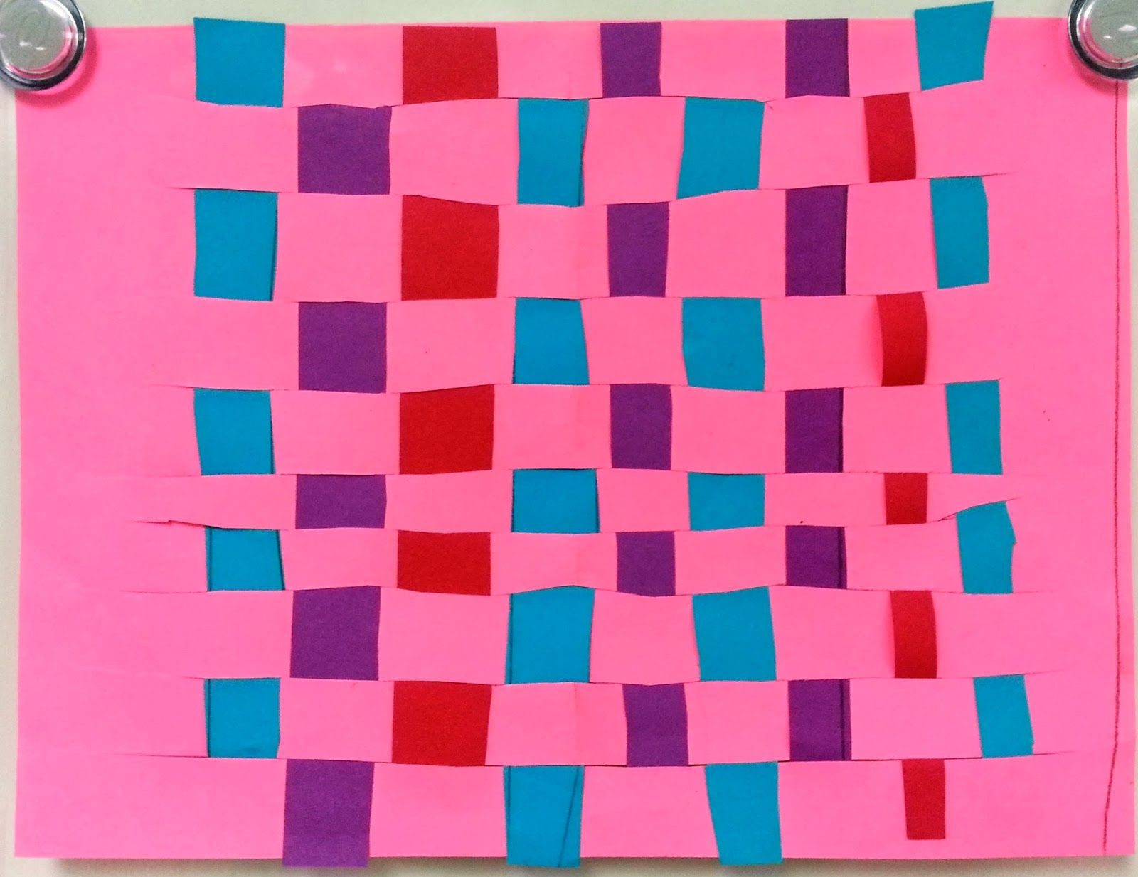 Op Art Paper Weaving 3rd and 5th Craft Club