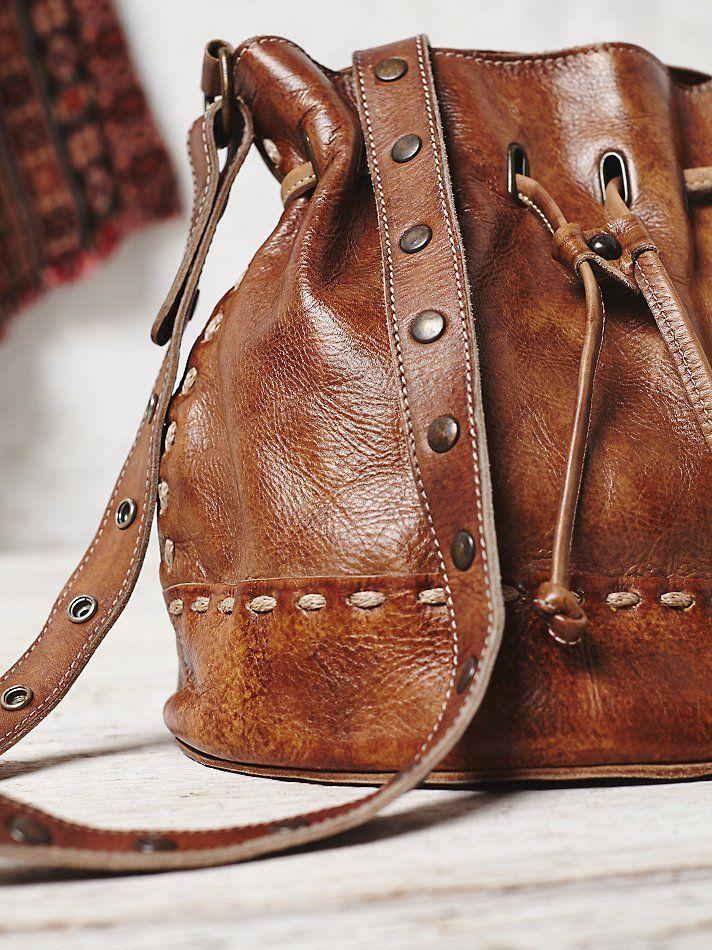 Bed Stu Sch Leather Bucket Bag At Free People Clothing Boutique