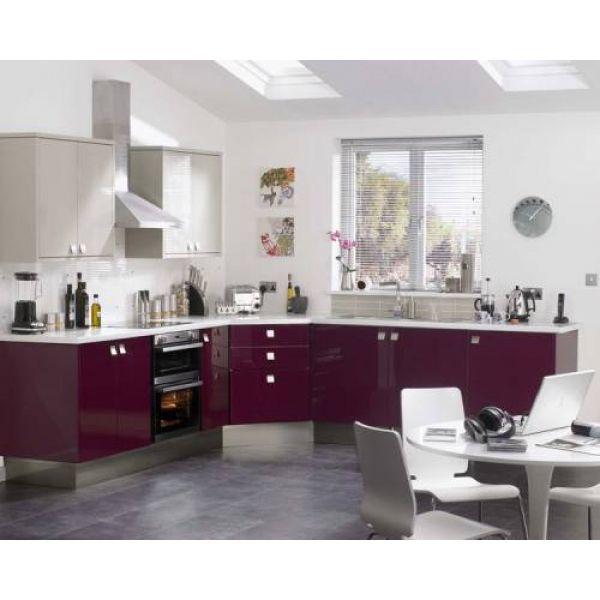 Aubergine kitchen couleur aubergine Pinterest Kitchens, Purple