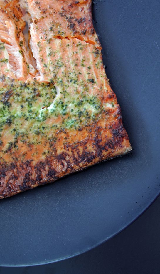 Delicous organic salmon recipe with oriental flavours
