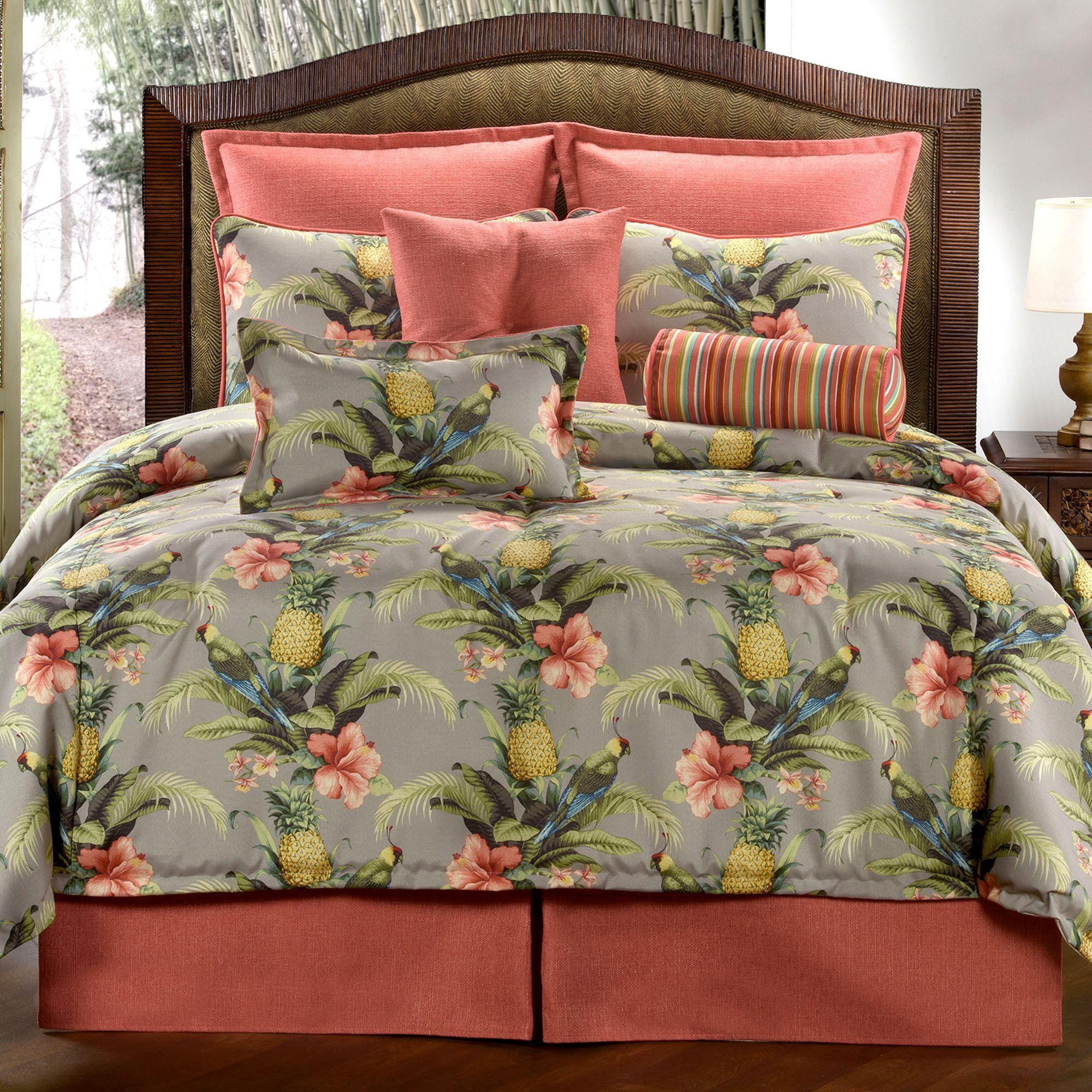 Polly Island Tropical Parrot Comforter Bedding Tropical Bedrooms Tropical Bedding Tropical Bedroom Decor