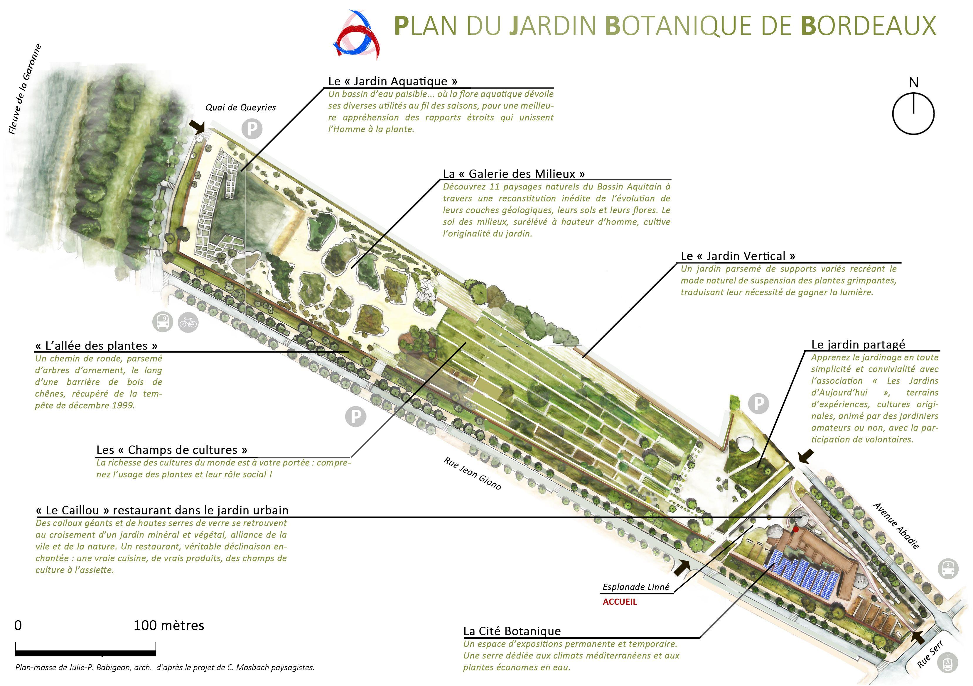 Mars2014 plan du jardin botanique de 3315 for Bordeaux jardin botanique