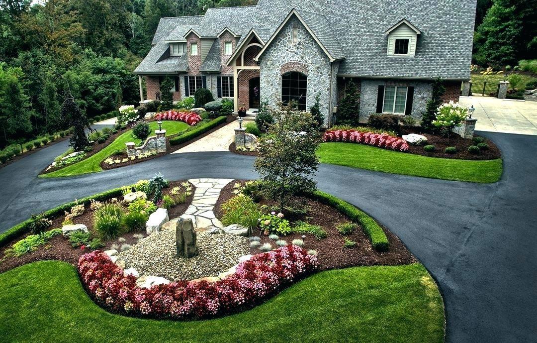 U Shaped Driveway Landscaping Ideas Large Estate Landscape Design