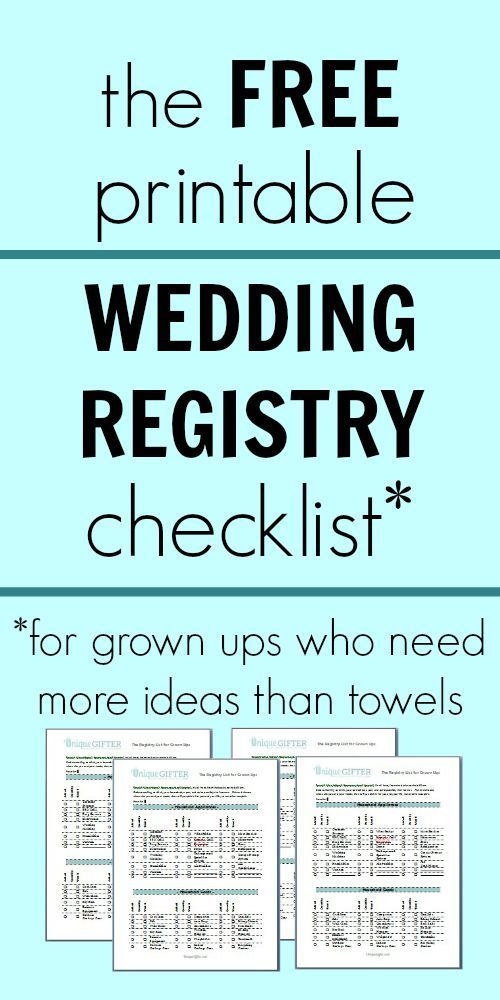 Weddings What To Register For If You Have Everything Unique Gifter Wedding Registry Checklist Printable Wedding Registry Checklist Free Wedding Printables