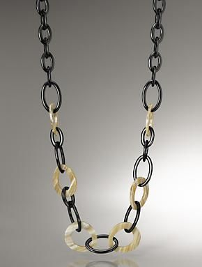 * View larger image    ALTERNATE VIEWS:        *      *    LOOKS        *      *      *      *      *      *    Colorblock Loop Link Toggle Necklace     $49.00