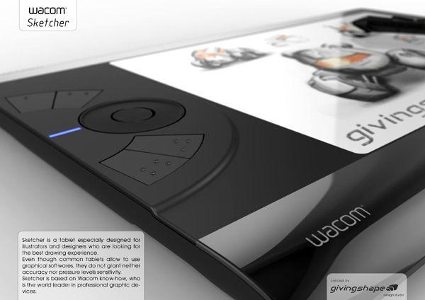 Sketcher Wacom Tablet Concept By Massimo Battaglia Wacom Tablet Id Design