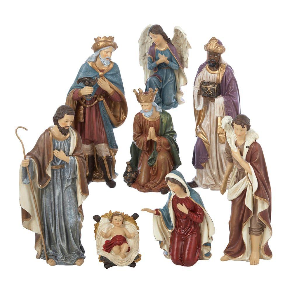Home interior nativity set 5599 kurt s adler pc nativity scene christmas decor brown  products