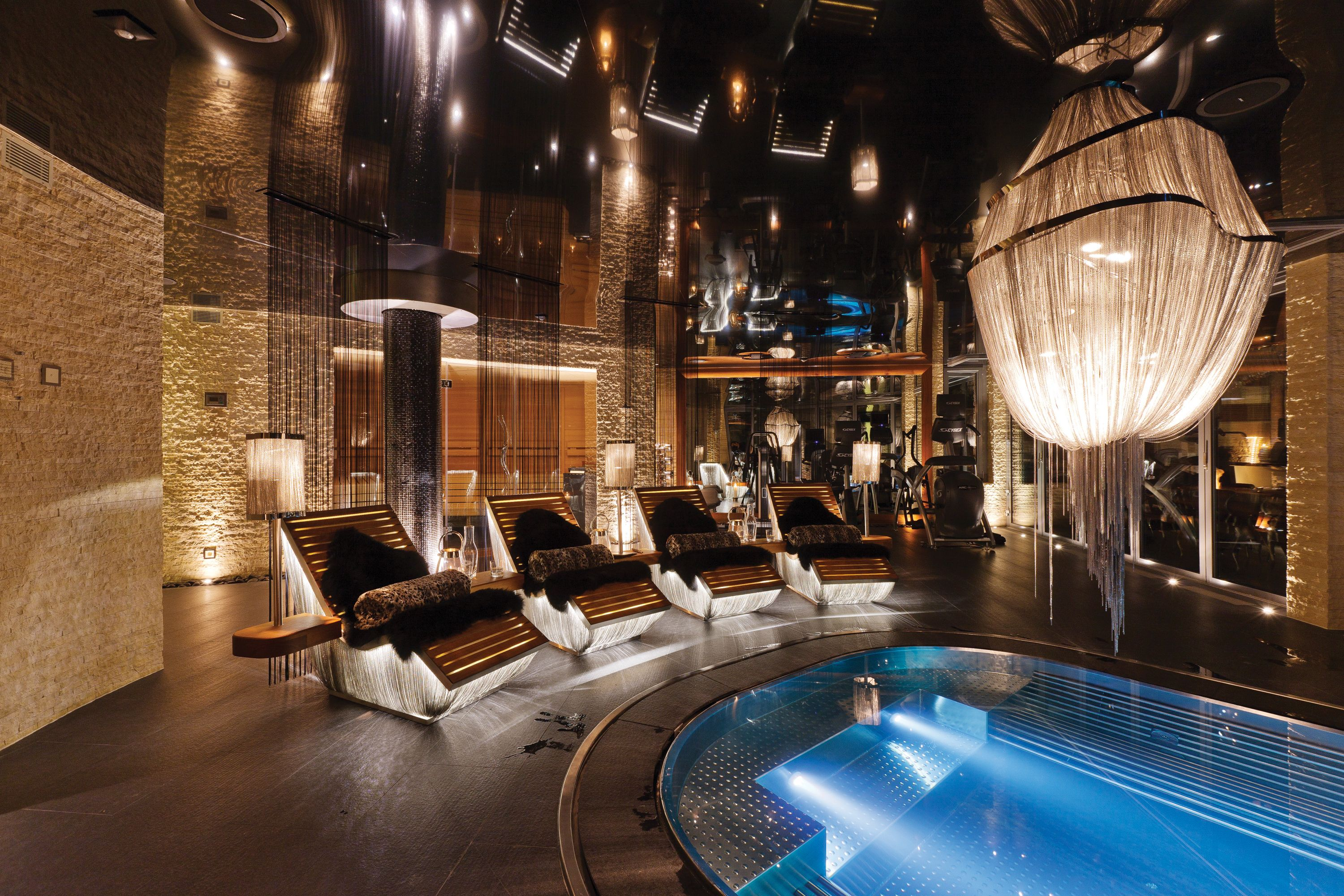 The Jacuzzi And Relaxation Area At Chalet Zermatt Peak In The