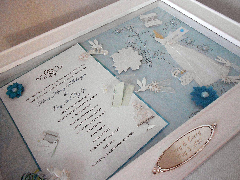 Bridal Bliss Wedding Invitation Keepsake Box With Engraved Name Plate