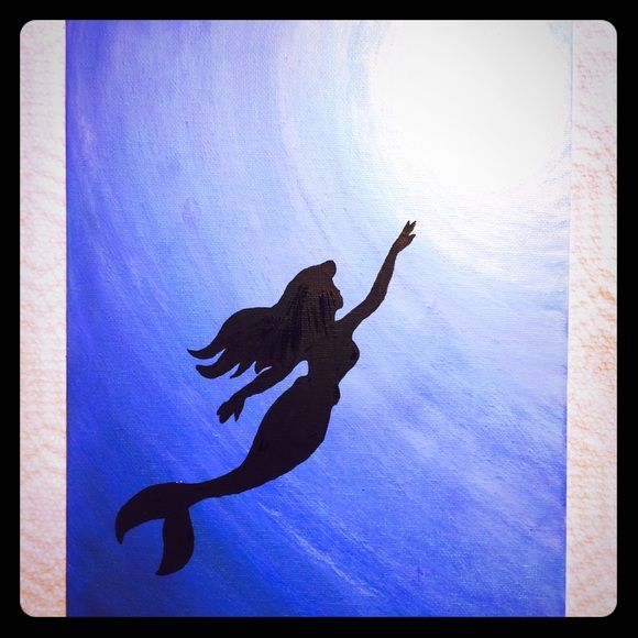 The Little Canvas: The Little Mermaid- Ariel Swimming
