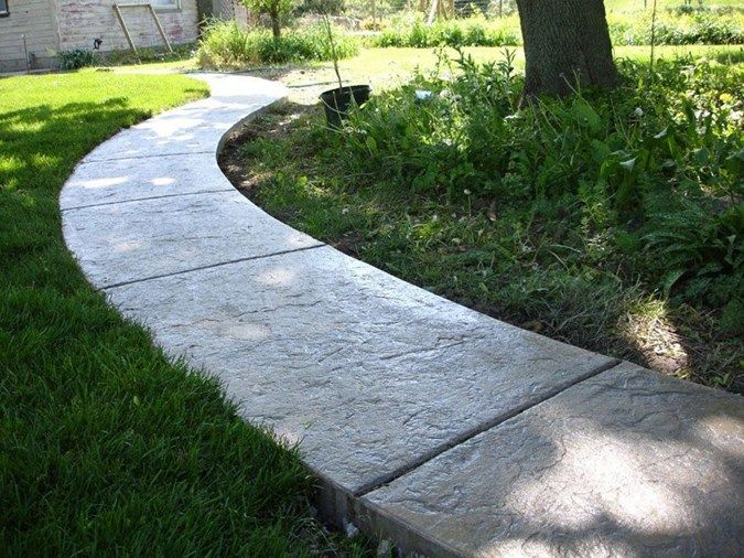 Walkway Concrete Walkways Kmm Decorative Concrete Holly