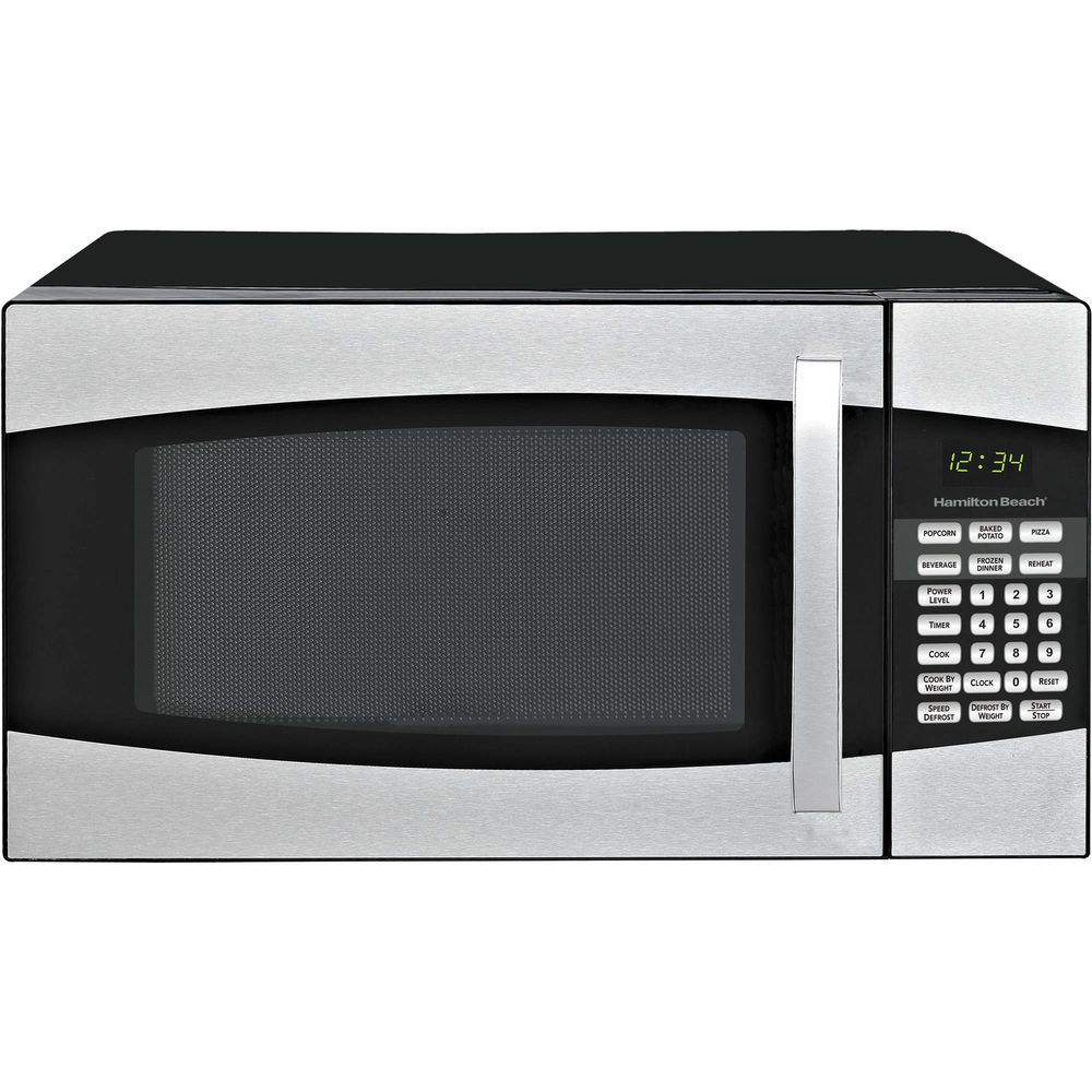 Microwave Oven Black Kitchen Touch Pad Control Stainless Steel 0 9