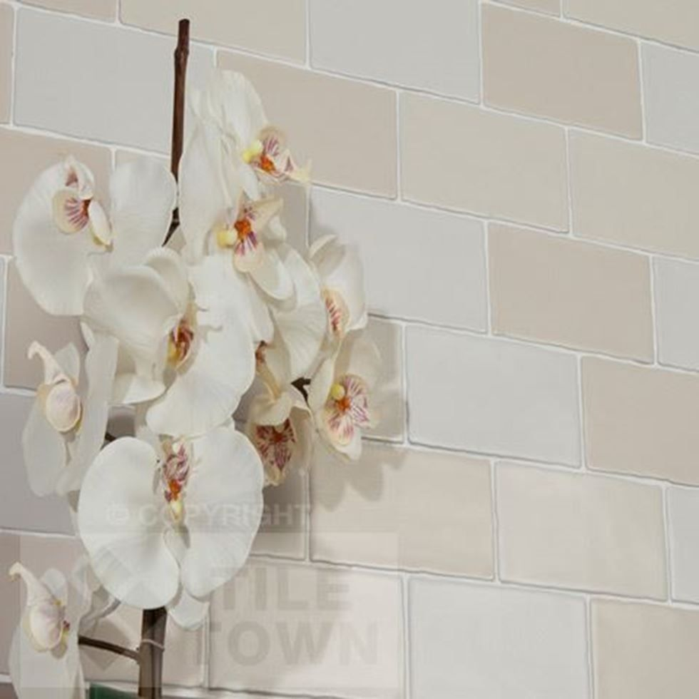 Chic White Mix Mix Bathroom Wall Tiles supplied by Tile Town ...