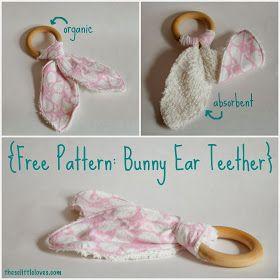 Bunny ear teether diy i tutorial youtube.