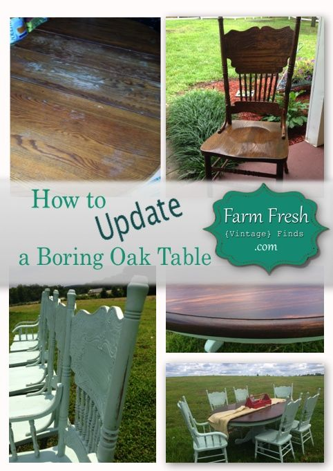 How To Update A Boring Oak Table And Chairs Farm Fresh
