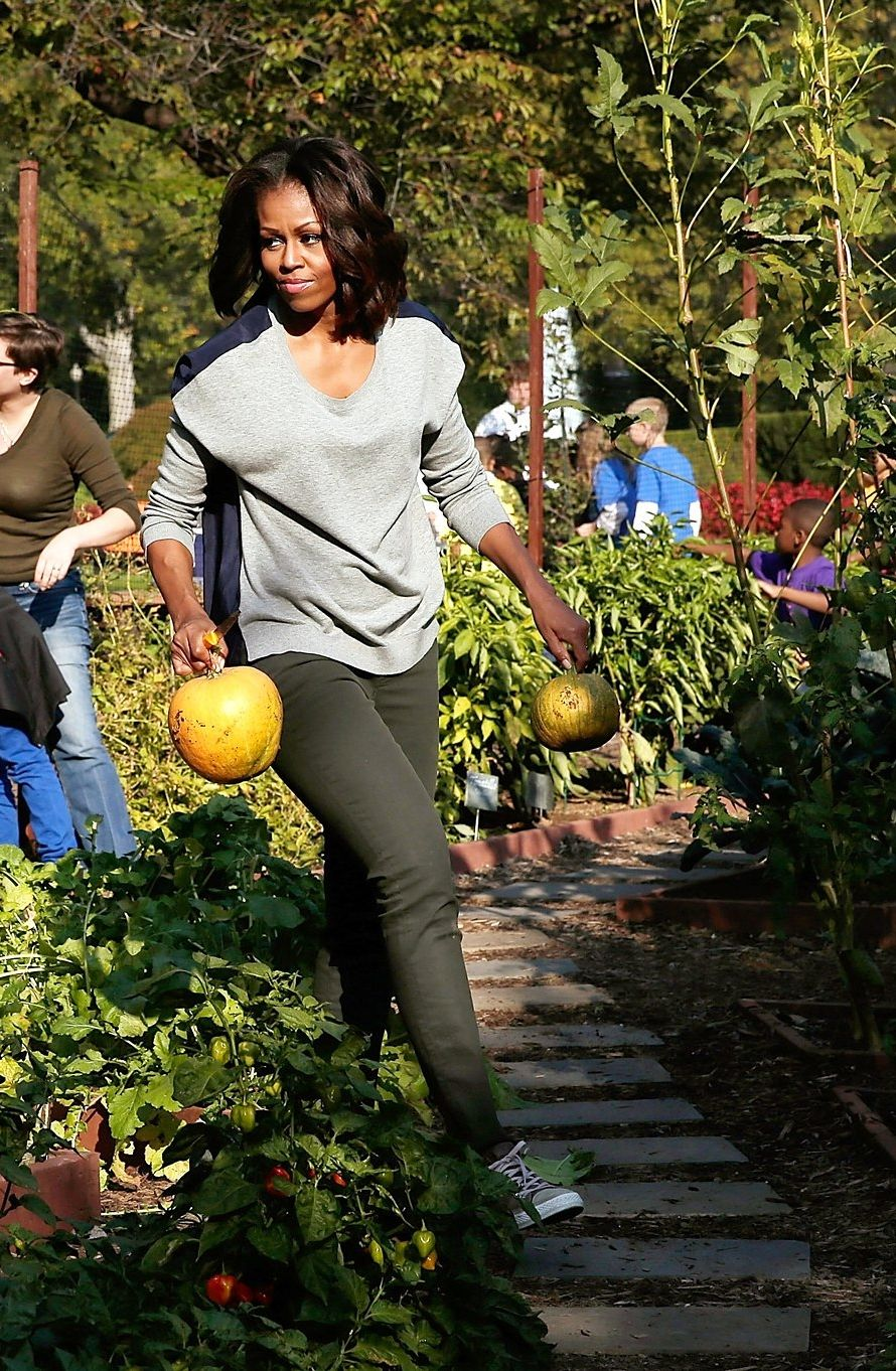 Michelle Obama Kitchen Garden A Look Back At Michelle Obamas Vegetable Garden One Of Her First