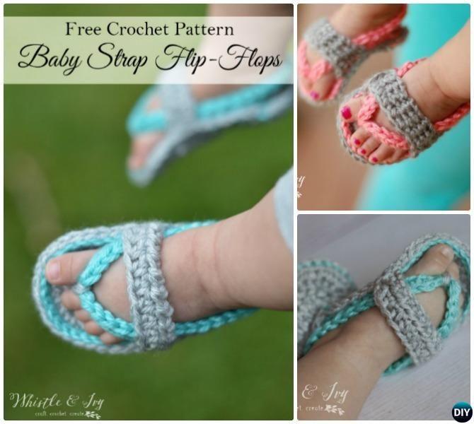 Crochet Baby Flip Flop Sandals Free Pattern | Stationary | Pinterest ...