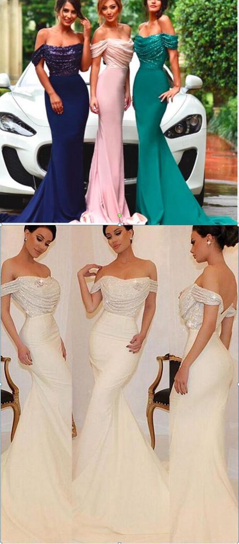 Off shoulder bridesmaid dresses sexy mermaid bridesmaid dresses