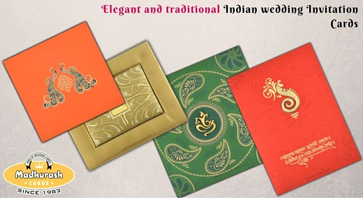 Elegant and traditional Indian wedding Invitation Cards #… (With ...