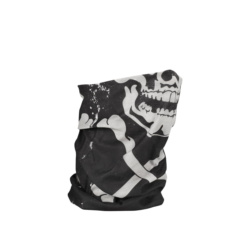 ZAN HEADGEAR MOTORCYCLE MOTLEY TUBE FLEECE LINED NECK WARMER SKULL-X skull x
