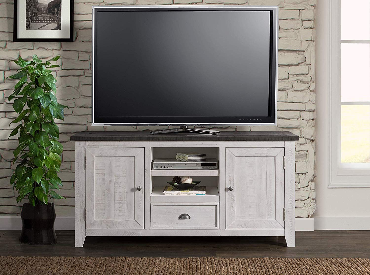 Contemporary Warm Brown Black Wood Glass 65 Inch Tv Stand Coaster Furniture Tv Console Home