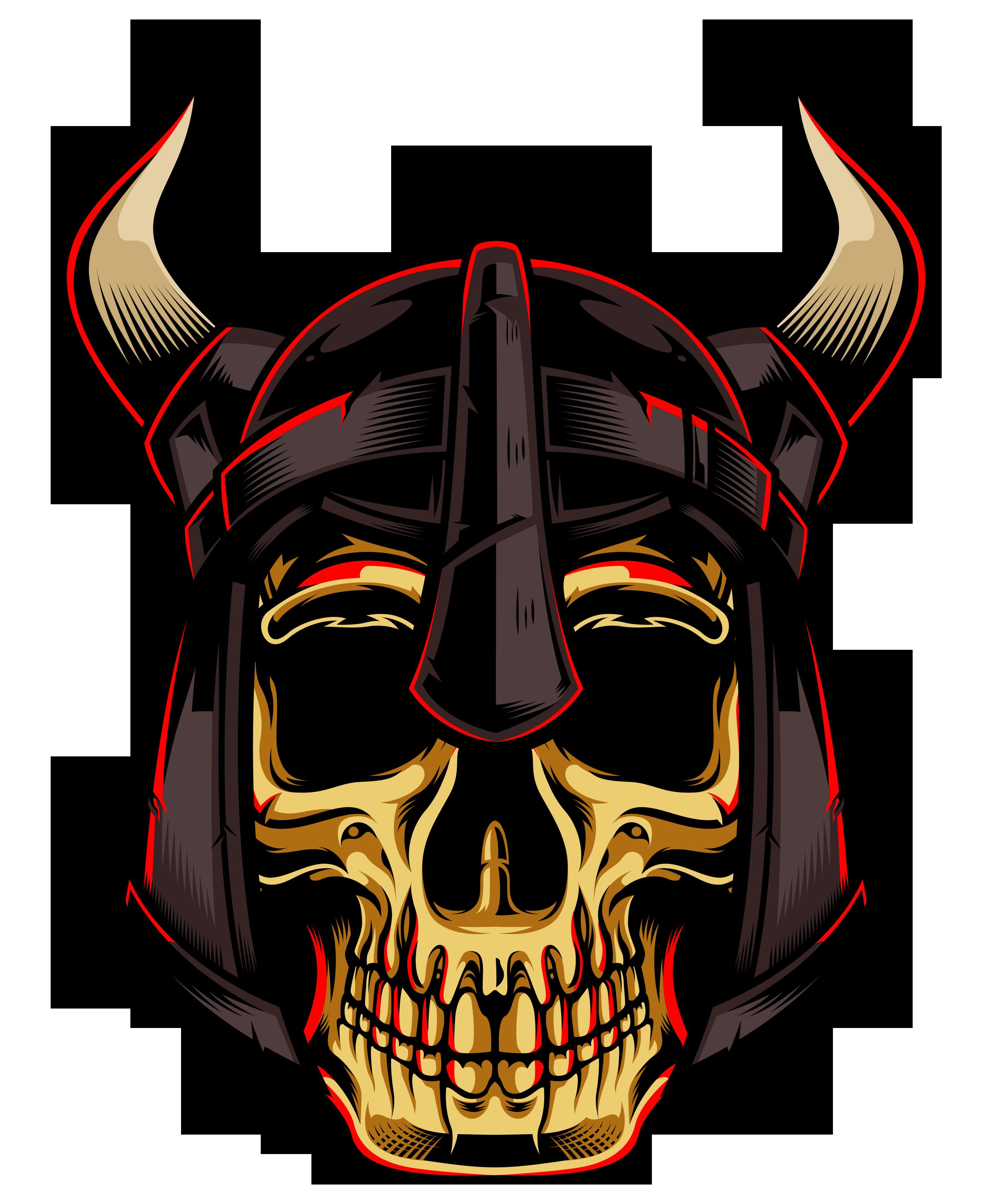 Gold Skull With Viking Helmet Viking Helmet Gold Skull Vikings