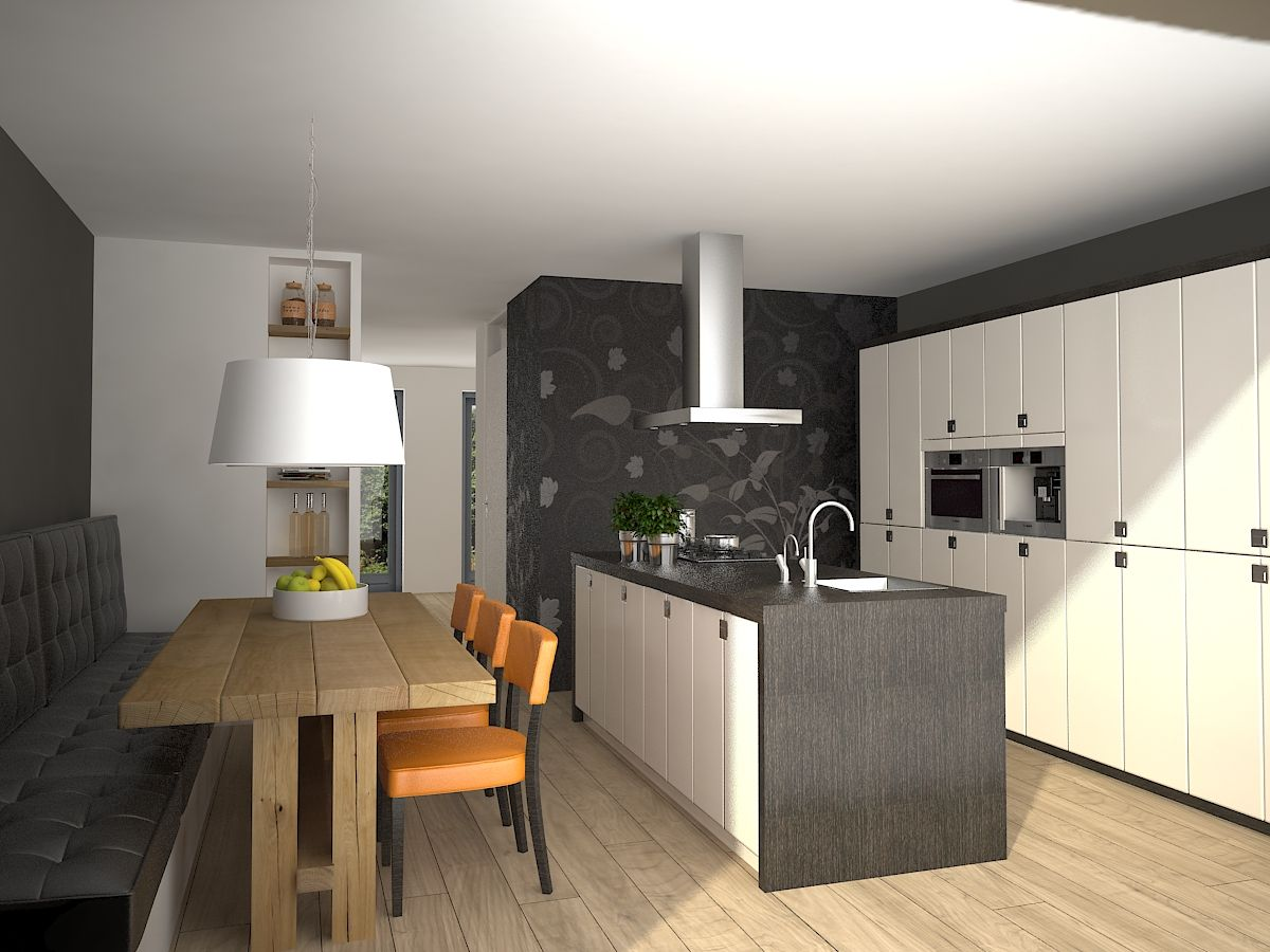 Alternatieve indeling keuken pinterest kitchens - Bank keuken ...