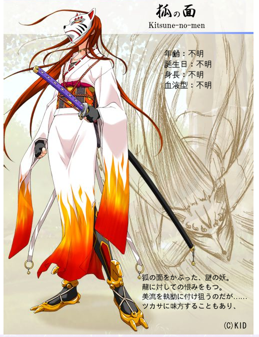 Kitsune no men RyuKoku Anime Characters Database