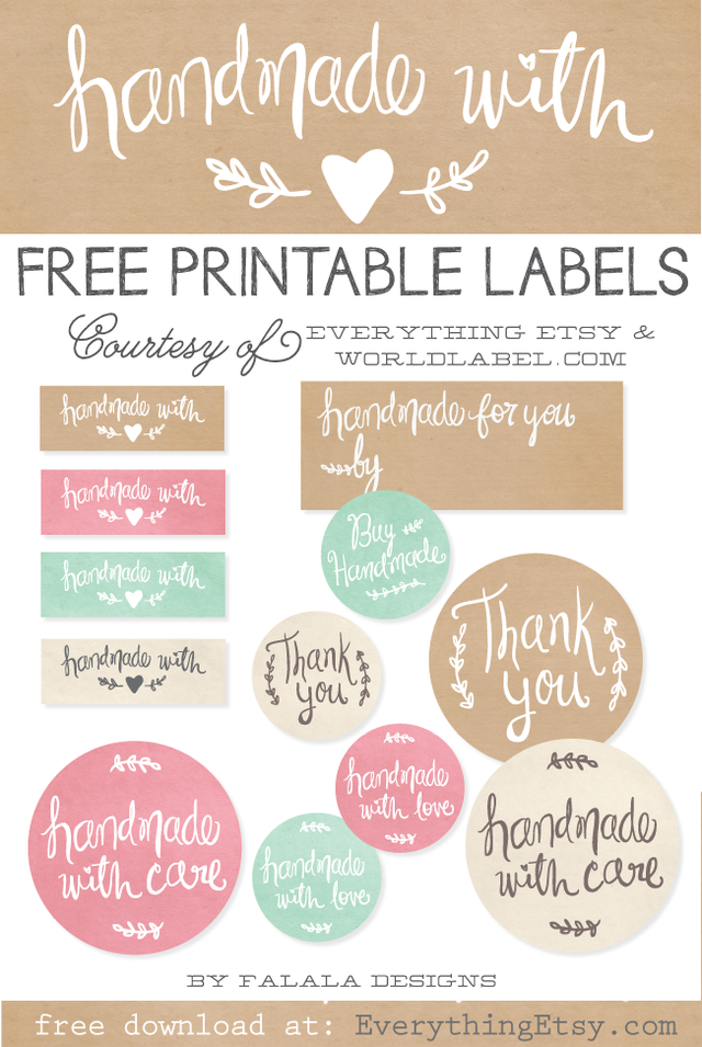 graphic relating to Etsy Printable identify Cost-free Printable Labels towards Kick Up Your Packaging! Home made