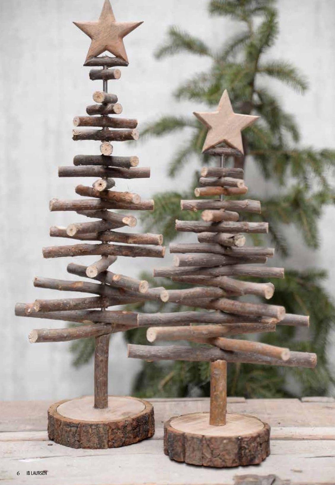 Blanc Tinksky Mini Arbre de No/ël en bois Petit Sapins De No/ël Arbre D/écoration de No/ël Table D/écoration de No/ël