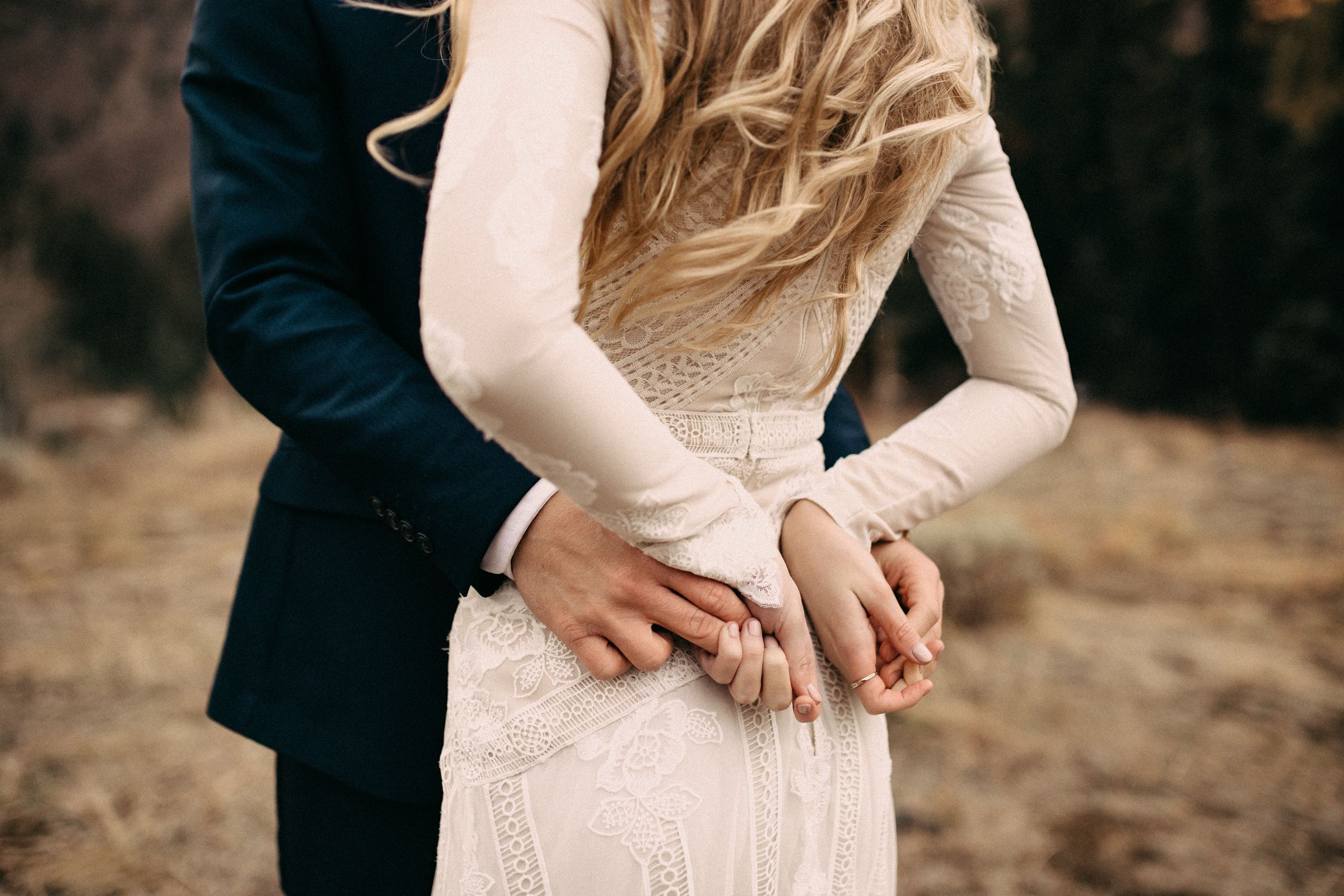 Casual wedding dresses for winter wedding  modest wedding dress with long sleeves from alta moda modest
