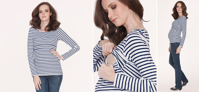 Leanne Umstands- und Still-Shirt gestreift aus der Kategorie Still ...