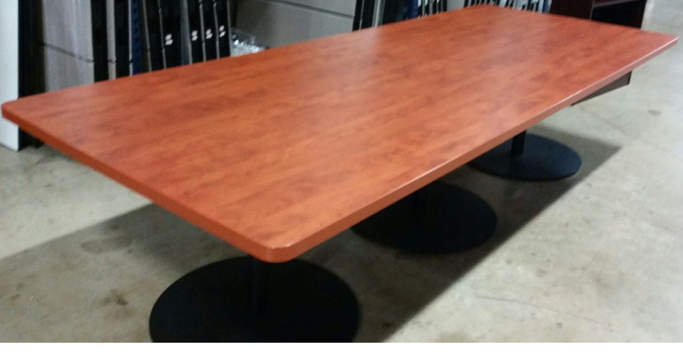Cherry Veneer Conference Table With Bases PreOwned - Cherry wood conference table