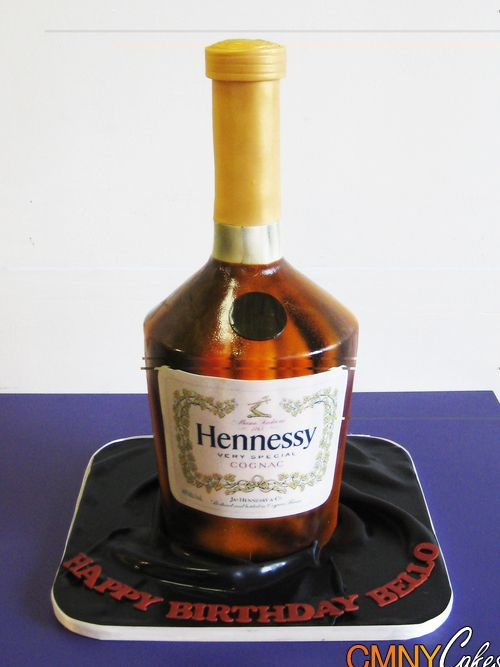 Decorated Hennessy Bottle Hennessy Bottle Cake  Cmny Cakes  Cakes  Pinterest  Hennessy