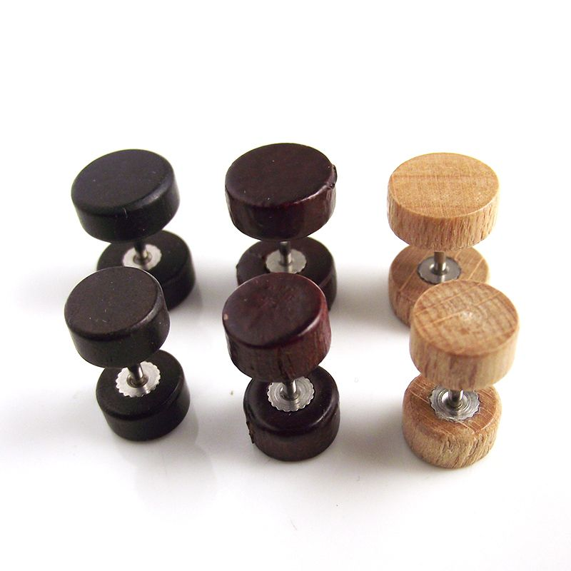 Wood Flesh Plugs Stud Earring for Men and Women //Price: $10.98 ...