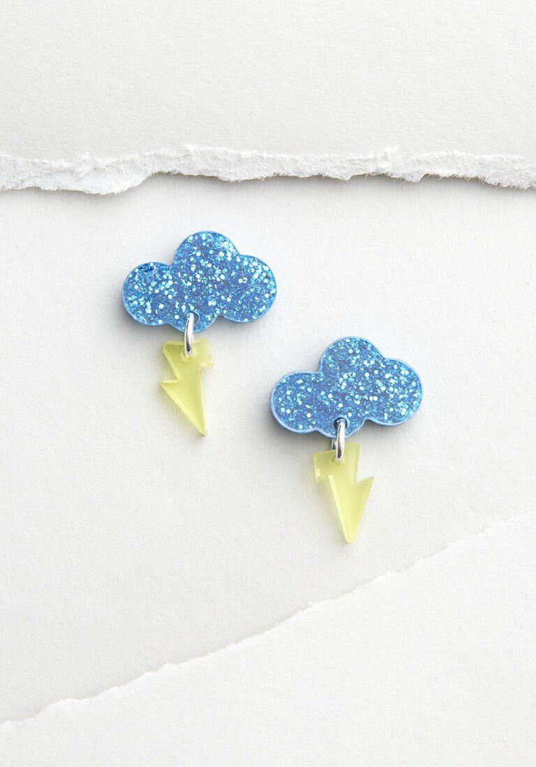 Chance of rain cloud earrings in 2020 quirky earrings