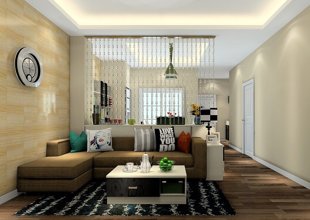 Idea of partition between living room and dining room for Dining room and living room design