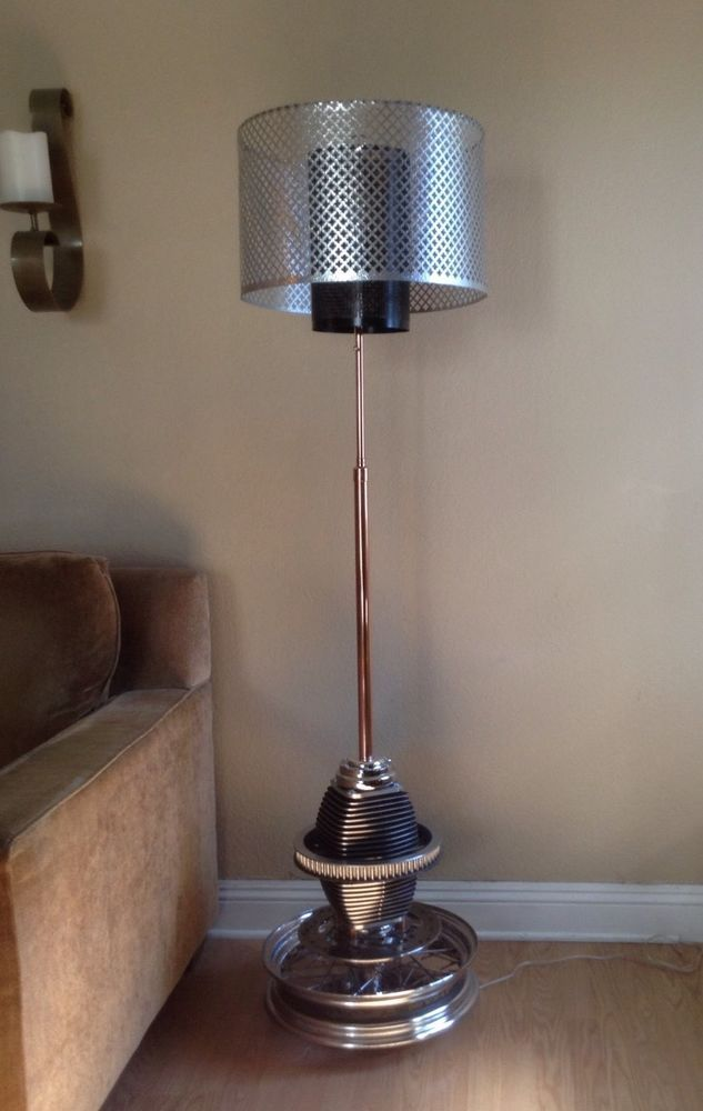 Collectible Floor Lamp Harley Davidson Motorcycle Parts In Collectibles Lamps Lighting Electric Ebay